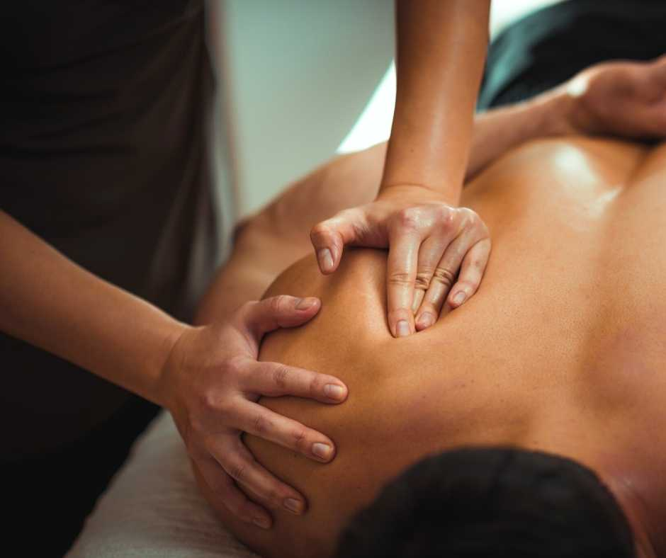 A sports massage therapist from Northwich Foot Clinic