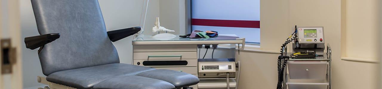 podiatry clinic room